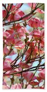 Office Art Prints Pink Flowering Dogwood Trees 18 Giclee Prints Baslee Troutman Bath Towel