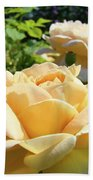 Office Art Prints Rose Peach Orange Rose Flower Baslee Troutman Bath Towel