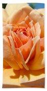 Office Artwork Roses Peach Rose Flower Giclee Baslee Troutman Bath Towel