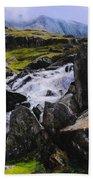 Ogwen Rock Waterfall Bath Towel