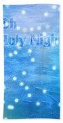 Oh Holy Night Bath Towel by Jocelyn Friis