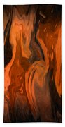 Oil Abstract Bath Towel