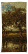 Oil Painting Landscape Bath Towel