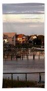 Okracoke Island Nc Sunrise Bath Towel