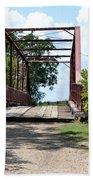 Old Alton Bridge In Denton County Bath Towel