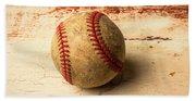Old American Baseball Bath Towel