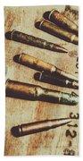 Old Ammunition Bath Towel