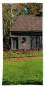 Old Barn And Rusty Farm Implement 01 Bath Towel