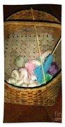 Old Basket New Yarn Bath Towel