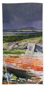Old Boat On Shore Bath Towel
