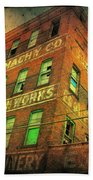 Old Empty Building In Retro Colors Bath Towel