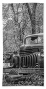 Old Chevy Oil Truck 2 Bath Towel