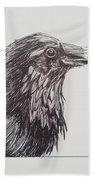Old Crow Bath Towel