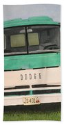 Old Dodge Bath Towel
