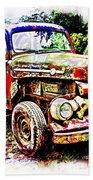 Old Farm Truck Bath Towel