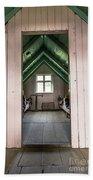 Old Farmhouse Interior Iceland Bath Towel