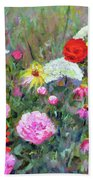 Old Fashioned Garden Hand Towel