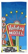 Old Fifties Vegas Hotel Sign Painting Bath Towel