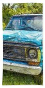 Old Ford Pick Up Truck Pencil Bath Towel