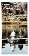 Old Friends Fishing Bath Towel