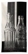 Old Glass Bottles Bath Towel