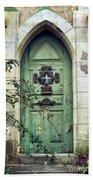 Old Gothic Door Bath Towel