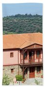old house Sithonia Greece summer vacation scene Bath Towel