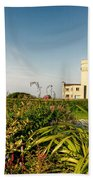Old Hunstanton Lighthouse North Norfolk Uk Bath Towel