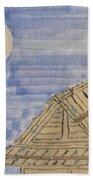 Old Japan At Nightfall Hand Towel