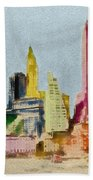 Old Manhattan Bath Towel