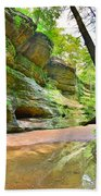 Old Man's Gorge Trail And Caves Hocking Hills Ohio Bath Towel