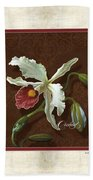 Old Masters Reimagined - Cattleya Orchid Bath Towel