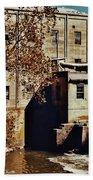 Old Mill In Autumn Bath Towel