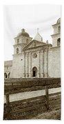 Old Mission Santa Barbara, Cal Circa 1895 Bath Towel
