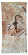 Old Mural Painting In The Ruins Of The Church Bath Towel