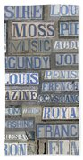 Old New Orleans Street Tiles Bath Towel
