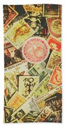 Old New Zealand Stamps Hand Towel
