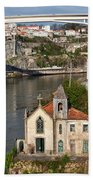 Old Riverside Church In Portugal Hand Towel
