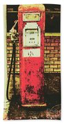 Old Roadhouse Gas Station Hand Towel