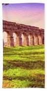 Old Roman Aqueduct Bath Towel