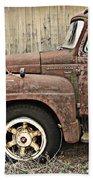 Old Rust Truck Bath Towel
