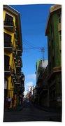 Old San Juan Puerto Rico Downtown On The Corner Hand Towel