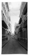 Old San Juan Puerto Rico Downtown On The Street Bath Towel