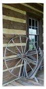 Old Spinning Wheel Bath Towel