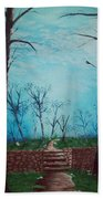 Old Steps To The Horizon Hand Towel