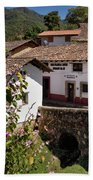 Old Stone Bridge In Historic Hillside Village Of San Sebastian D Bath Towel