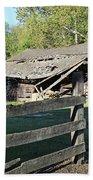 Old Tilted Barn Indiana Bath Towel