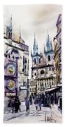 Old Town Square In Prague Bath Towel