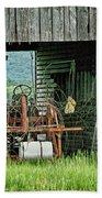 Old Tractor - Missouri - Barn Bath Towel