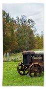 Old Tractor Bath Towel